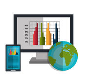 Financial market graphic Royalty Free Stock Photography