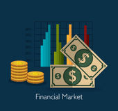 Financial market graphic Royalty Free Stock Photos