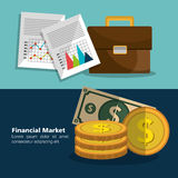 Financial market graphic Stock Photo