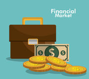 Financial market graphic. Design, vector illustration eps10 Stock Images