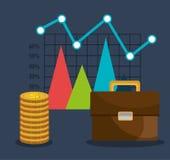 Financial market graphic. Design, vector illustration eps10 Stock Photo