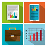 Financial market graphic Stock Photo