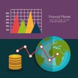 Financial market graphic Stock Photos