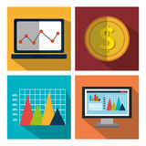 Financial market graphic Royalty Free Stock Photo