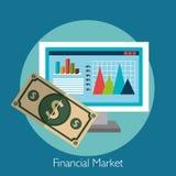 Financial market graphic. Design, vector illustration eps10 Stock Image