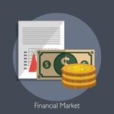 Financial market graphic. Design, vector illustration eps10 Stock Photography