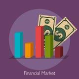 Financial market graphic. Design, vector illustration eps10 Royalty Free Stock Image