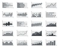 Financial market information business graphs charts currency infographic investment data concept growth diagram isolated. Financial market information business Royalty Free Stock Photos