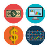 Financial market and investments Stock Images