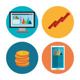 Financial market and investments Stock Photo
