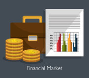 Financial market statistics Royalty Free Stock Images