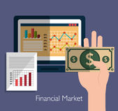 Financial market statistics Royalty Free Stock Photography