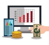 Financial market statistics. Graphic design, vector illustration Stock Photo