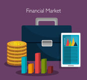 Financial market statistics Royalty Free Stock Image