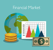 Financial market statistics Stock Images