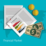 Financial market statistics Stock Photography