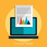 Financial market statistics Stock Image