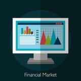 Financial market statistics. Graphic design, vector illustration Stock Photos