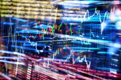 Financial market and stock exchange stock photos