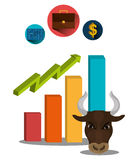 Financial market and stock market. Graphic design,  illustration Royalty Free Stock Images