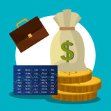 Financial market and stock market. Graphic design,  illustration Stock Photo