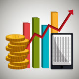Financial market and stock market. Graphic design,  illustration Royalty Free Stock Photos