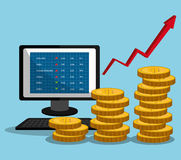 Financial market and stock market. Graphic design,  illustration Stock Image
