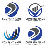 Financial, Marketing, Business and Consulting Concept Logo Stock Photo