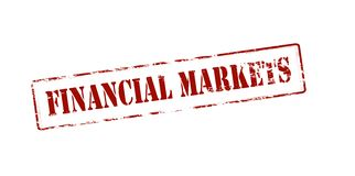 Financial markets. Rubber stamp with text financial markets inside,  illustration Stock Photos