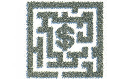 Financial Maze Labyrinth made of usd banknotes Royalty Free Stock Image