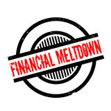 Financial Meltdown rubber stamp. Grunge design with dust scratches. Effects can be easily removed for a clean, crisp look. Color is easily changed Stock Image