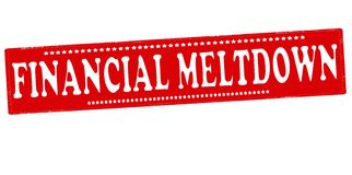 Financial meltdown. Rubber stamp with text financial meltdown inside,  illustration Stock Photos