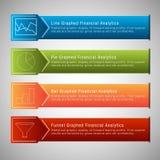 Financial Menu Set Stock Photos