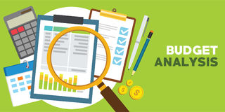 Financial and monetary budget analysis. Vector illustration design royalty free illustration