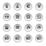Financial and money icon set. Round shape Royalty Free Stock Photography