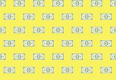 Financial Money Paper Banknote Seamless Pattern. Financial Money Paper Banknote In A Row Seamless Pattern Background Royalty Free Stock Photo