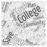 Financial Motivation for Two Year Education word cloud concept word cloud concept  background. Text Royalty Free Stock Image