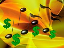 Financial music symphony Royalty Free Stock Photos