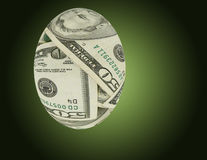 Financial Nest Egg. Over green background Stock Image