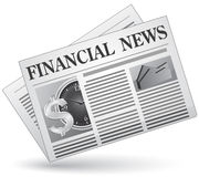 Financial news. Vector illustration of  icon Royalty Free Stock Photos