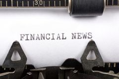 Financial News Stock Images