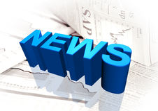 Financial news. 3D news for the financial market Stock Images