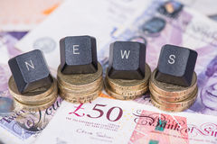 Financial news blog header Stock Photos