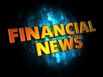 Financial News - Gold 3D Words. Financial News - Gold 3D Words on Dark Digital Background Royalty Free Stock Photo