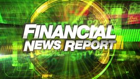 Financial News Report - Broadcast Title Graphic