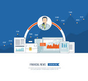 Financial news and strategy, planning strategy concept.  Press conference. Royalty Free Stock Images