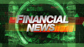 Financial News - TV Show Graphic Animation stock video footage