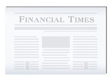 Financial Newspaper. Cartoon vector illustration of a financial Newspaper Royalty Free Stock Photos