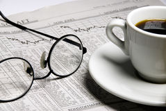 Financial Newspaper Stock Photography