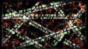 Financial numbers background, stock footage. Video stock illustration